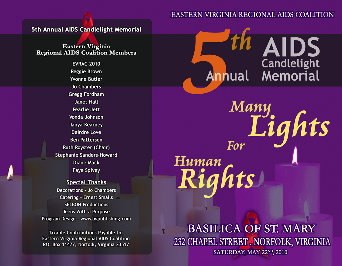 5th Annual AIDS Candlelight Memorial Program Cover