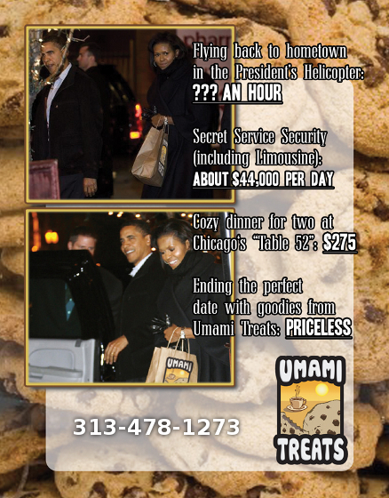 Umami Treats Obamas Flyer